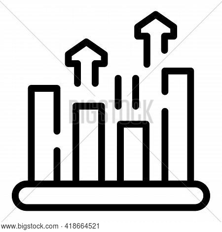 Result Money Graph Chart Icon. Outline Result Money Graph Chart Vector Icon For Web Design Isolated