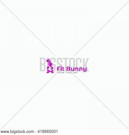 Apple Nutrition And Healthy Logo Bunny Mascot