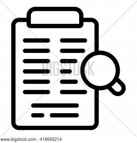 Clipboard Market Studies Icon. Outline Clipboard Market Studies Vector Icon For Web Design Isolated