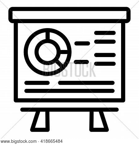 Lesson Market Studies Icon. Outline Lesson Market Studies Vector Icon For Web Design Isolated On Whi
