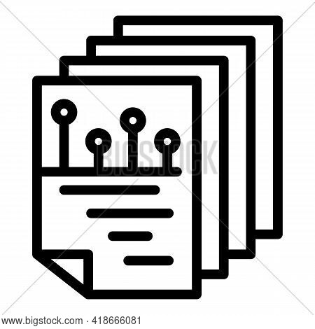 Big Data Sheets Icon. Outline Big Data Sheets Vector Icon For Web Design Isolated On White Backgroun