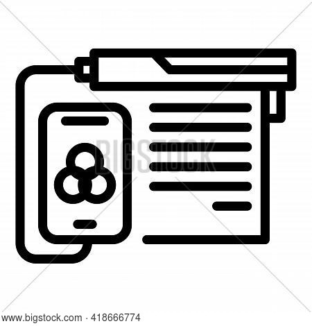 Printing Option Icon. Outline Printing Option Vector Icon For Web Design Isolated On White Backgroun