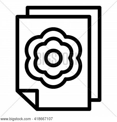 Printed Media Icon. Outline Printed Media Vector Icon For Web Design Isolated On White Background
