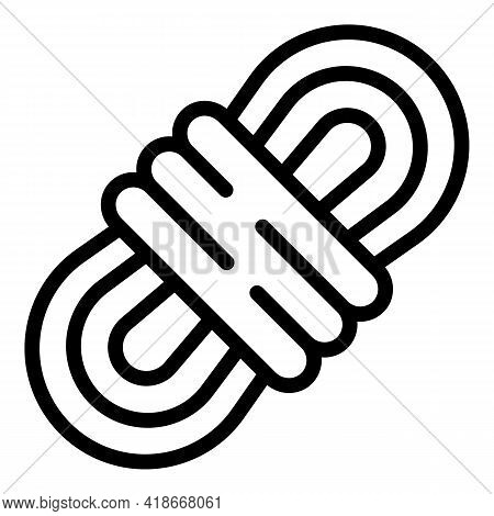 Scouting Rope Icon. Outline Scouting Rope Vector Icon For Web Design Isolated On White Background