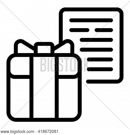 Gift Ordering Icon. Outline Gift Ordering Vector Icon For Web Design Isolated On White Background