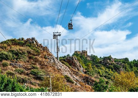 Bottom View Of The Cable Car