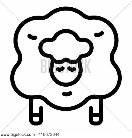 Sleeping Sheep Icon. Outline Sleeping Sheep Vector Icon For Web Design Isolated On White Background