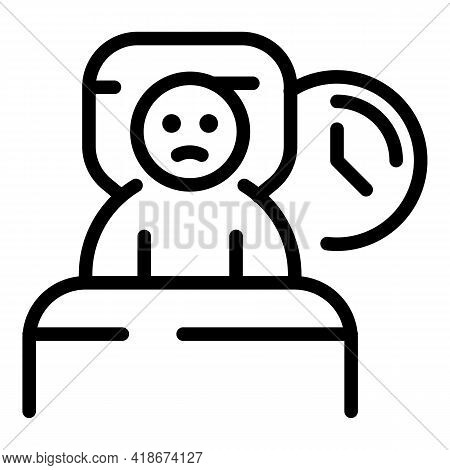 Insomnia Icon. Outline Insomnia Vector Icon For Web Design Isolated On White Background
