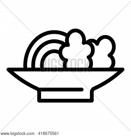 Asian Food Icon. Outline Asian Food Vector Icon For Web Design Isolated On White Background