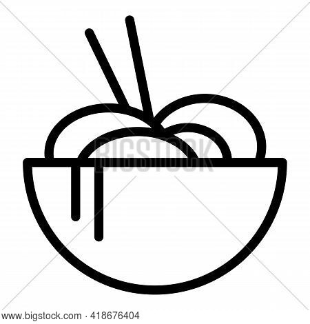 Asian Cuisine Icon. Outline Asian Cuisine Vector Icon For Web Design Isolated On White Background