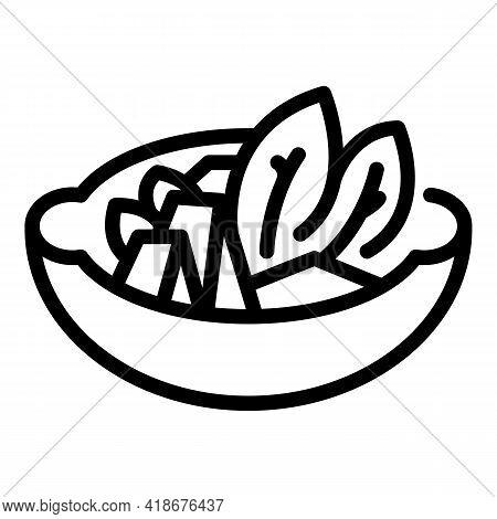 Korean Kitchen Icon. Outline Korean Kitchen Vector Icon For Web Design Isolated On White Background
