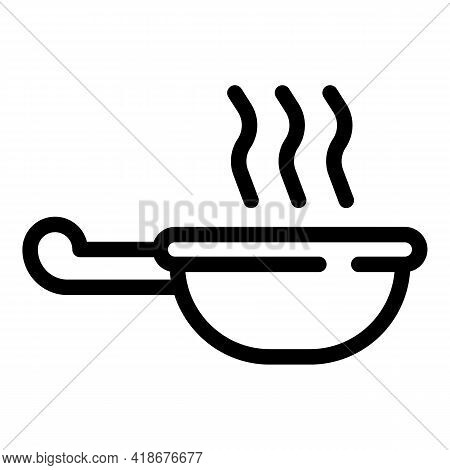 Soy Sauce Bowl Icon. Outline Soy Sauce Bowl Vector Icon For Web Design Isolated On White Background