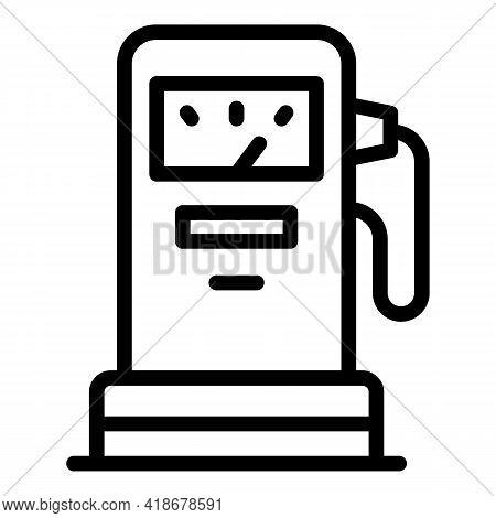 Kerosene Station Icon. Outline Kerosene Station Vector Icon For Web Design Isolated On White Backgro