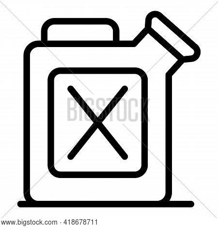Kerosene Canister Icon. Outline Kerosene Canister Vector Icon For Web Design Isolated On White Backg