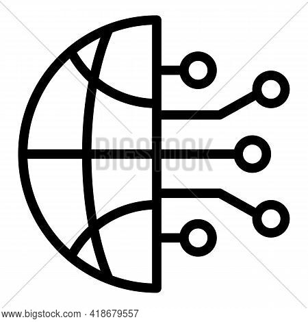 Global Emerging Market Icon. Outline Global Emerging Market Vector Icon For Web Design Isolated On W