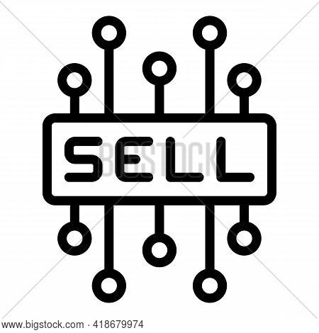 Sell Investment Icon. Outline Sell Investment Vector Icon For Web Design Isolated On White Backgroun