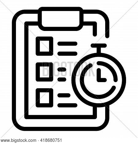Deadline Realization Icon. Outline Deadline Realization Vector Icon For Web Design Isolated On White