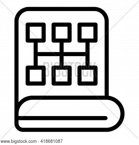 Development Strategy Icon. Outline Development Strategy Vector Icon For Web Design Isolated On White