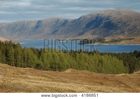 Scotland - Loch And Hills.