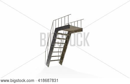 Simple Stair Display. 3d Rendering Exhibition, Exposition, Space, Show, Stairs, Stage, Success, Disp