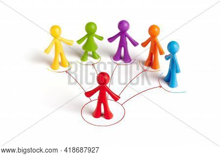 . Group Of Human Figures Isolated On White Background. The Concept Of Political Propaganda, Manifest