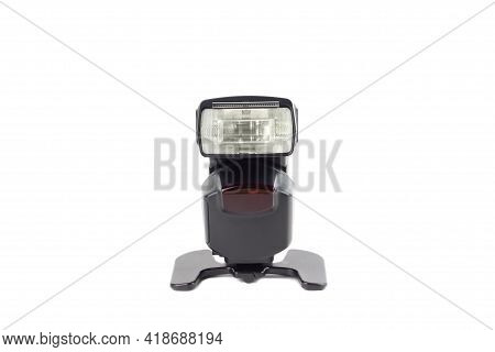 External Camera Flash Isolated On A White Background