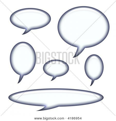 Captions And Speech Bubbles Isolated