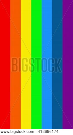 Flag Rainbow Colors. Pride Month. Vector Illustration Eps10