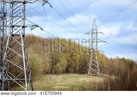 High Voltage Electric High Voltage Electric Transmission Power Tower With Electric Glass Insulator O