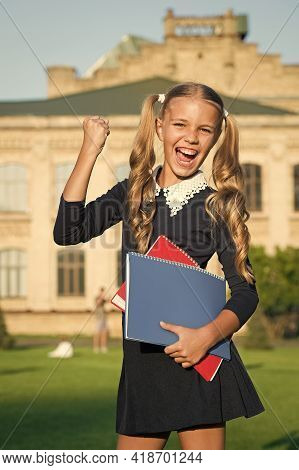 Knowledge Is My Superpower. Happy Child Back To School. Knowledge Day. September 1. School And Educa