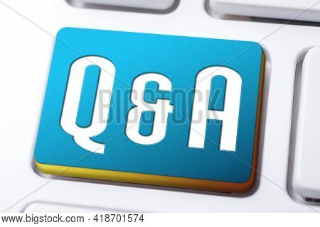 Q And A Written On A Keyboard Button