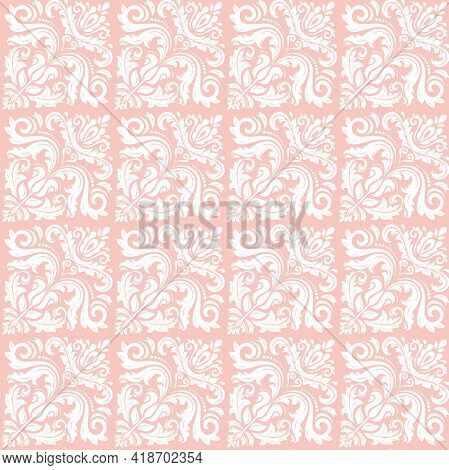 Orient Classic Pattern. Seamless Abstract Background With Vintage White Elements. Orient Background.