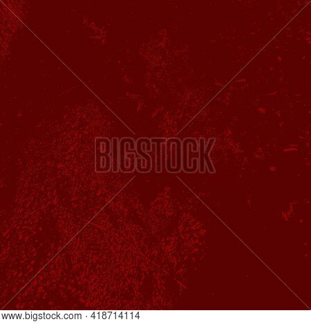 Red Grunge Distressed Background For Your Design