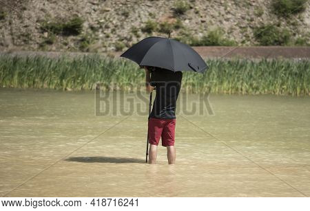 A Sunshade Or Parasol In Summer