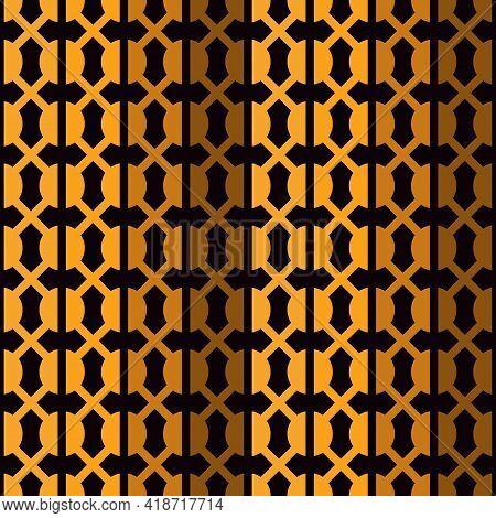 Geometric Seamless Pattern. Modern Mosaic Ornament. Grid Abstract Background. Repeated Interlocking