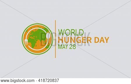 World Hunger Day Food Prevention And Awareness Vector Concept. Banner, Poster World Hunger Day Aware