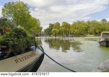 July 2020. London.canal Boats, Little Venice, London England United Kingdom