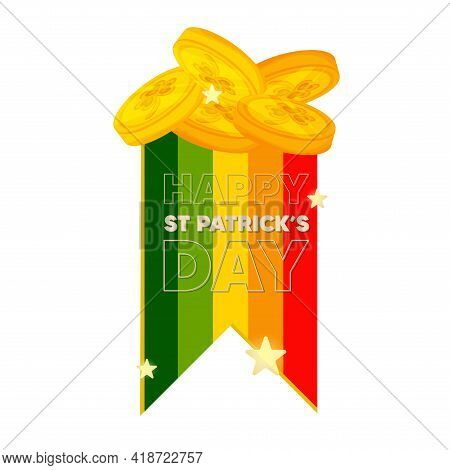 Isolated Tokens Ireland Wood Saint Patricks Day Ireland Icon- Vector