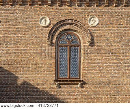 Krakow Poland August 2020. Church Window In Krakow, Old Town, Lesser Poland, Poland, Europe