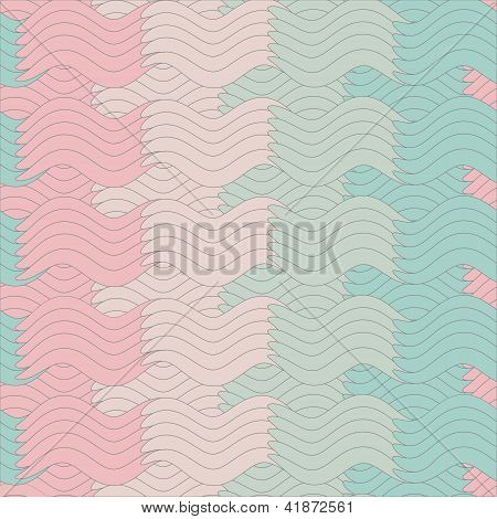 colorful seamless abstract pattern, waves background