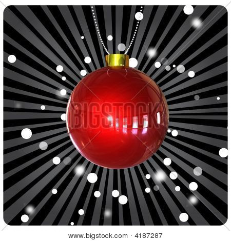 Christmas Ball On Dark Background