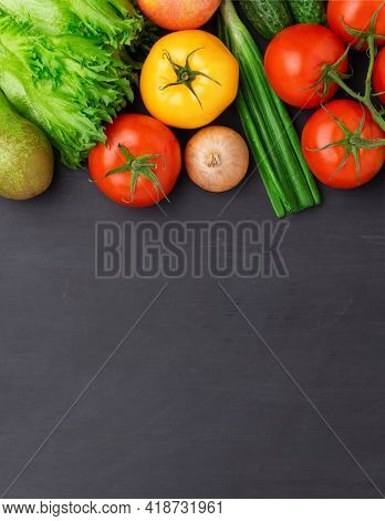 Selection Of Fresh Products For Preparing Healthy And Delicious Vegetarian And Vegan Food. Various V