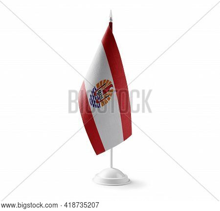 Small National Flag Of The French Polynesia On A White Background