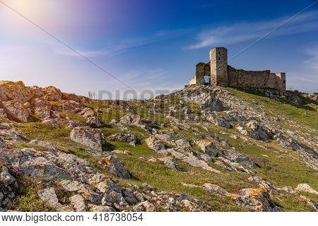 Enisala Fortress. Important Historical Landmark Near Tulcea And Constanta