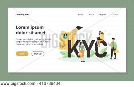 Tiny People Studying Risks And Process Guidelines For Clients Flat Vector Illustration. Idea Of Busi