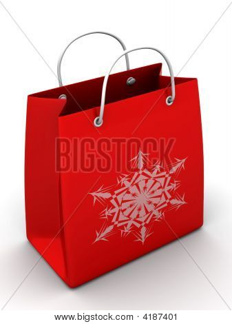 Shopping Bag With Snowflake