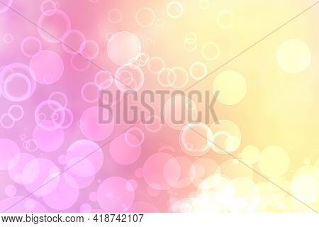 Hello Spring Background. Abstract Blurred Fresh Vivid Summer Light Delicate Pink White Yellow Bokeh
