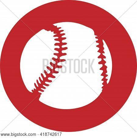 Baseball Icon Isolated On Background , Softball, Sport, Sports