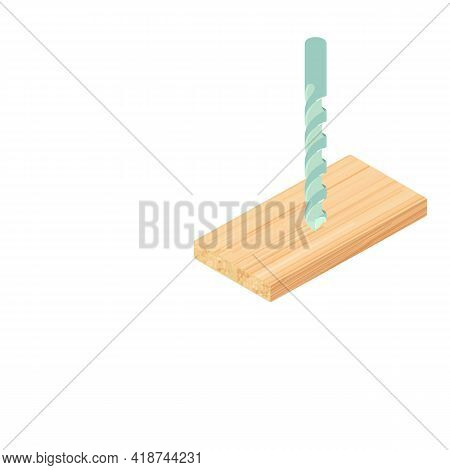 Spiral Drill Icon. Isometric Illustration Of Spiral Drill Vector Icon For Web