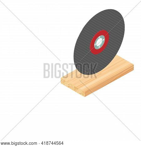 Grinding Disc Icon. Isometric Illustration Of Grinding Disc Vector Icon For Web